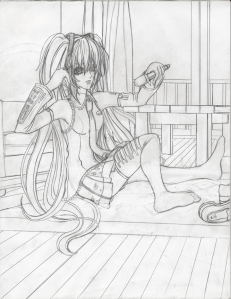 Hatsune Miku Rough Draft resize