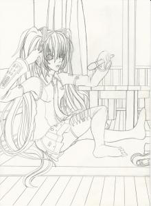 Hatsune Miku Uncolored resize ii