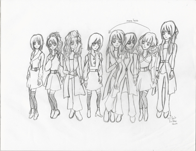 Morning Musume Tim Burton Style Rough II resize