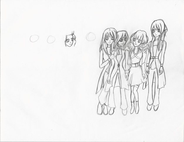 Morning Musume Tim Burton Style Rough
