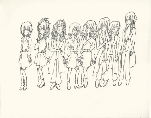 Morning Musume Tim Burton Style I resize