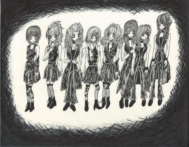 Morning Musume Tim Burton Style II resize