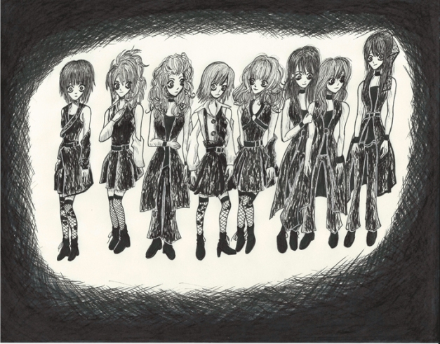 Morning Musume Tim Burton Style III resize