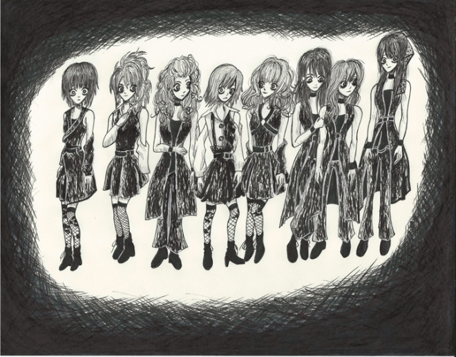 Morning Musume Tim Burton Style III resize