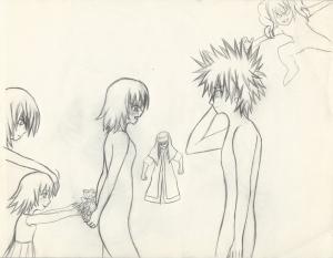 Misaka and Touma rough I resize