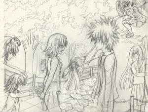 Misaka and Touma rough III resize