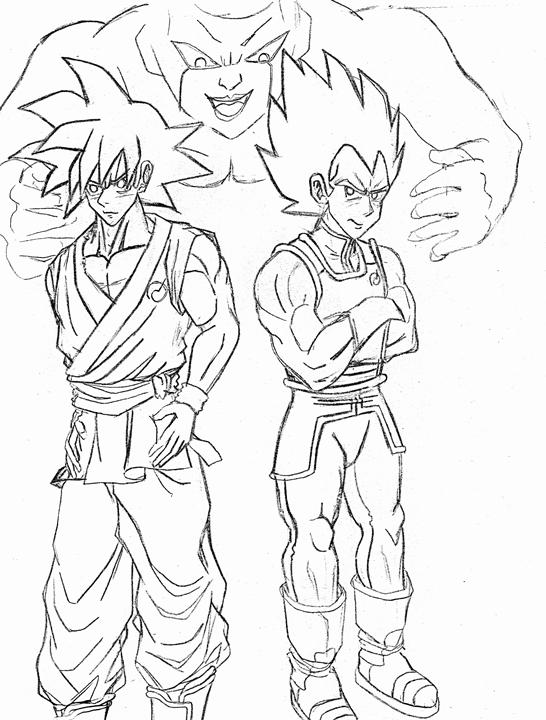 Goku Vegeta rough draft resize
