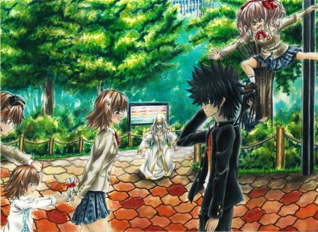 Misaka and Touma - '... What's wrong BiriBiri' FINAL II  RESIZE