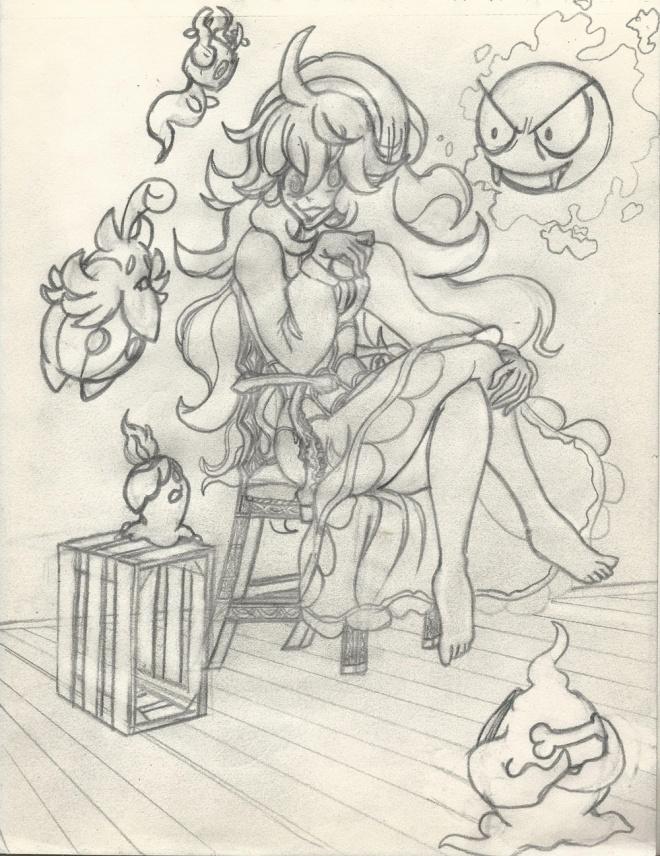 Pokemon Ghost Girl rough draft resize