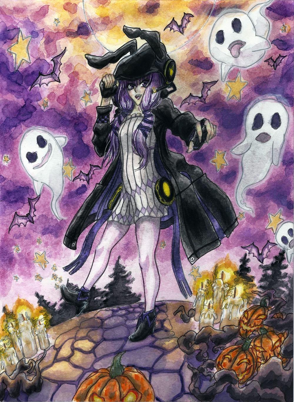 """Yuzuki Yukari - """"Halloween Pumpkin Smash"""""""