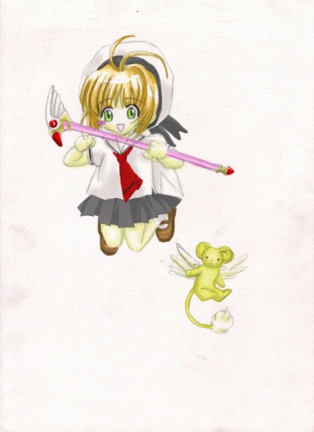 2006 chibi Sakura and Kero (744x1024)